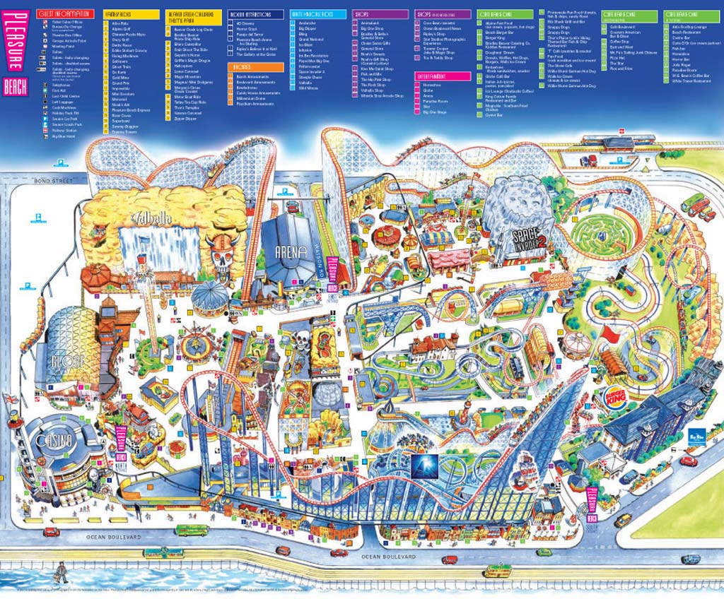 Park Map Explore The Map Of Blackpool Pleasure Beach
