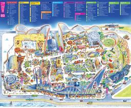 Map of Blackpool Pleasure Beach