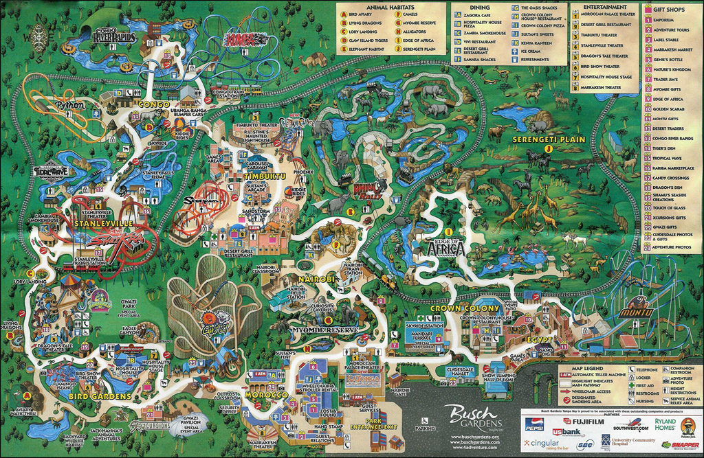 Busch Gardens Tampa Park Maps Informations Photos Videos Park Coaster