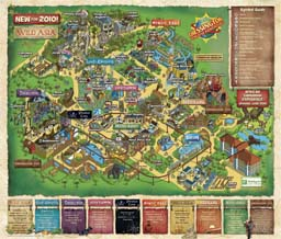 Map of Chessington World of Adventures