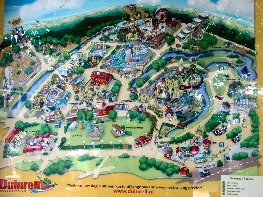 Duinrell park maps informations photos videos park - Campsites in holland with swimming pool ...