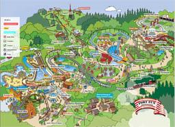 Map of Fort Fun Abenteuerland
