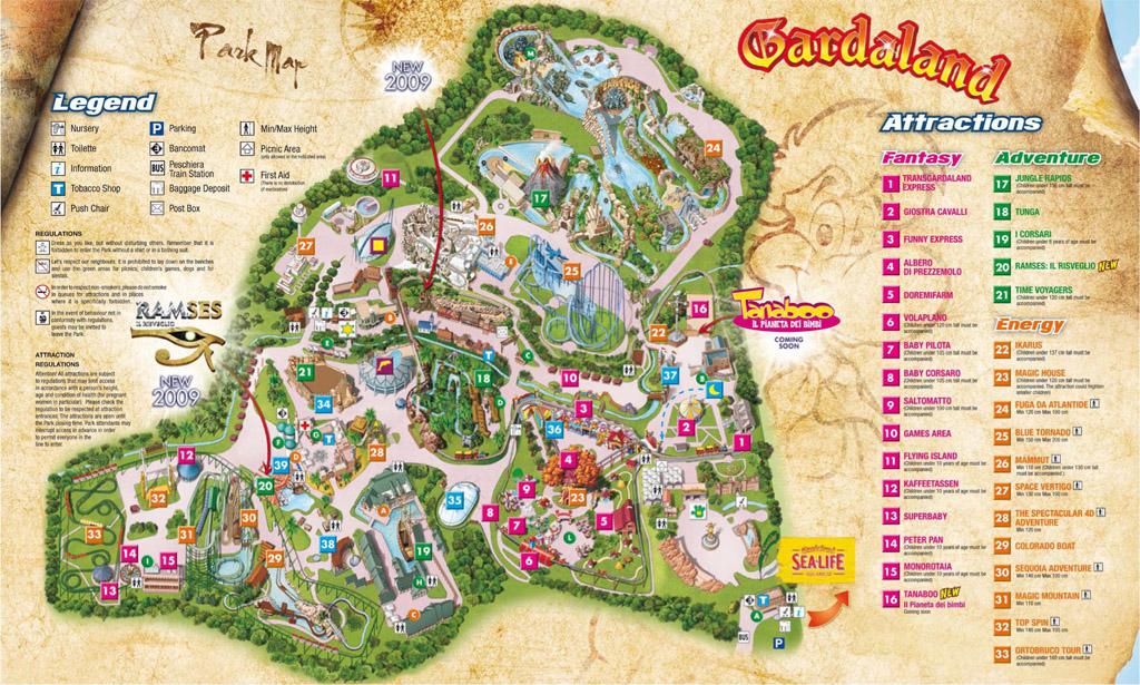 Gardaland Park Maps Informations Photos Videos Park Amp Coaster