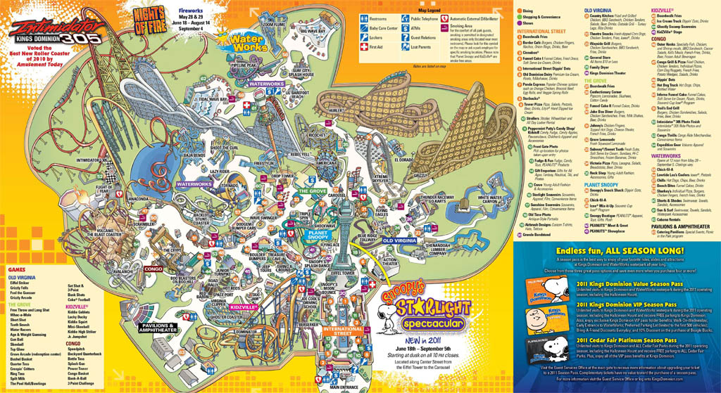 Kings Dominion Historical Maps  CP Food Blog