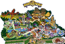 Map of Parque Warner Madrid