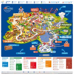 Map of Port Aventura