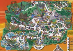 Map of Six Flags America
