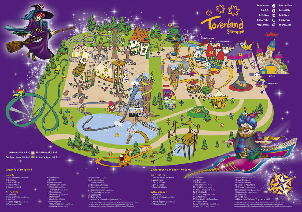 toverland park maps informations photos videos park coaster. Black Bedroom Furniture Sets. Home Design Ideas