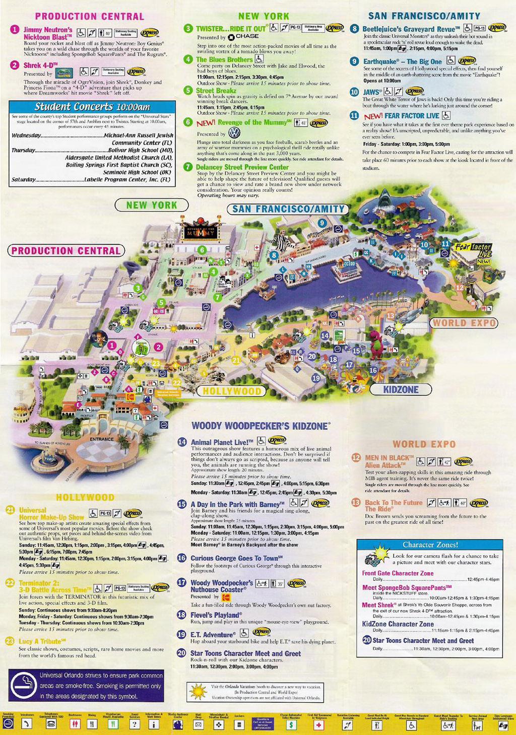 Universal Studios Florida Park Maps Informations Photos