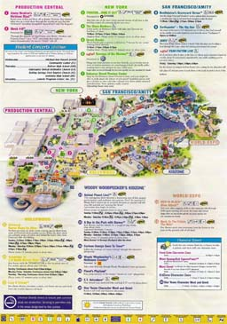 Map of Universal Studios Florida