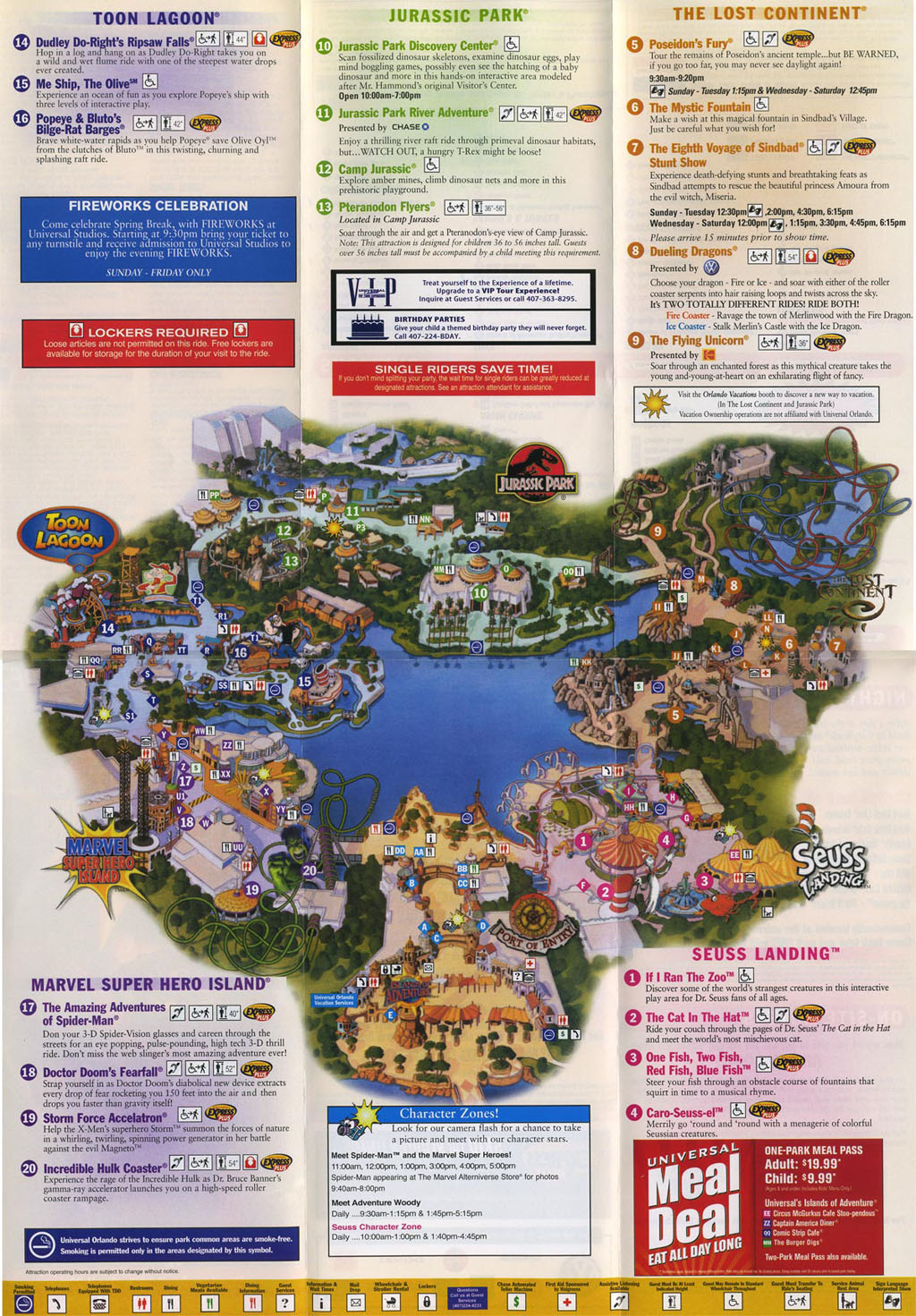Universal Studios Islands of Adventure : park maps ...