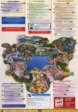 Map of Universal Studios Islands of Adventure