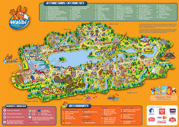 Map of Walibi Belgium
