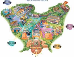 Map of Walt Disney Studios